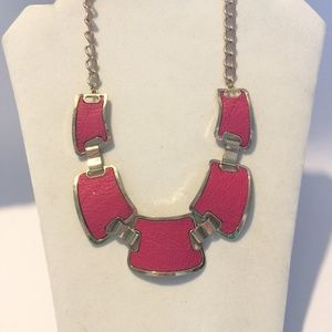 Very cool retro pink statement necklace